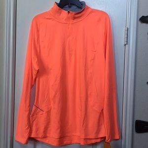 Orange semi-fitted top